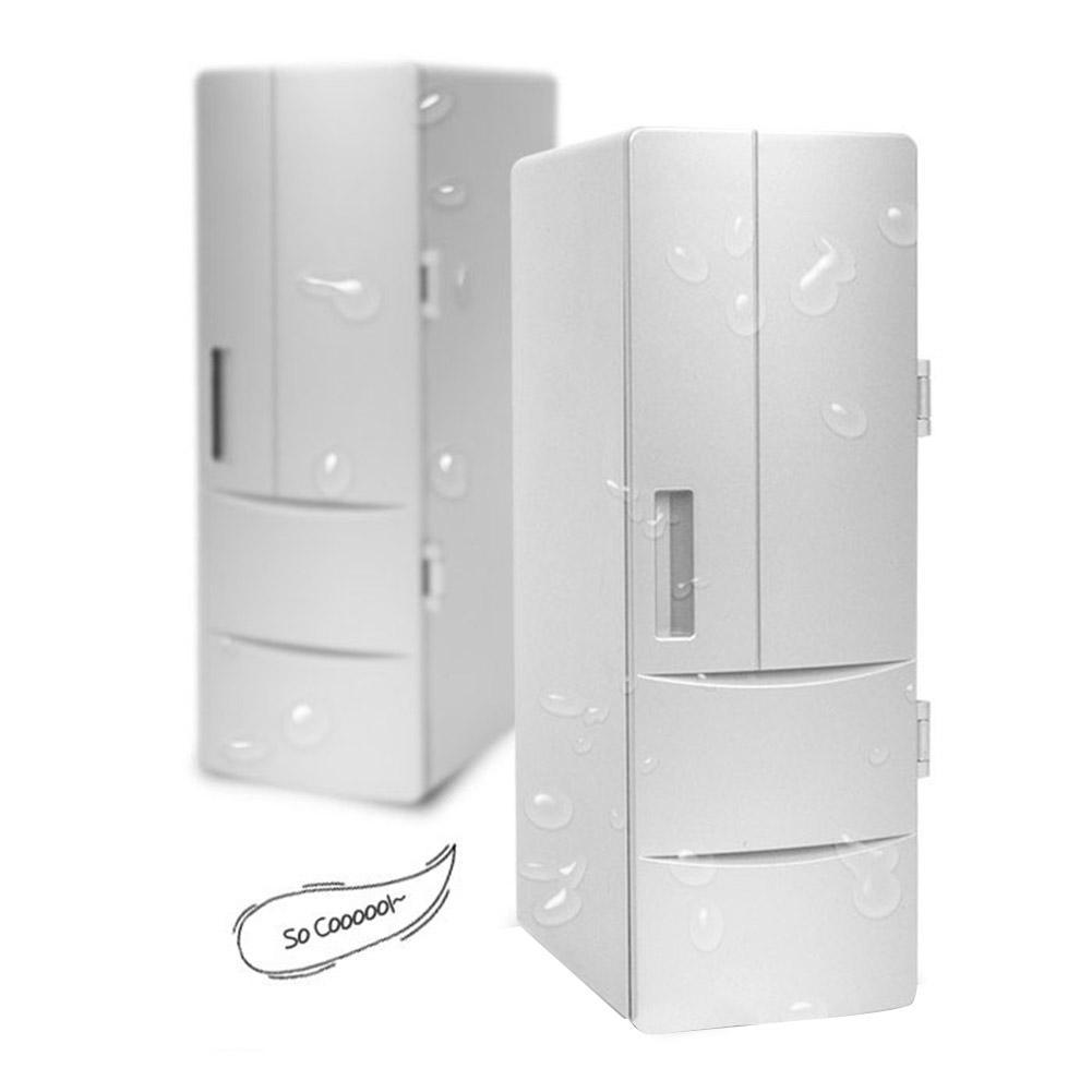 Car DC12V Universal Hot&Cold Dual USB Mini Fridge Mini USB Refrigerator Office Home Small Refrigerator