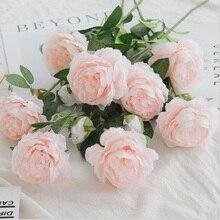 Искусственная китайская Роза ложный цветок свадебное украшение цветочный фото реквизит Европейский один платок Роза № 190003