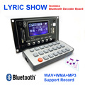 12 V Show Lírico Bluetooth Placa de Decodificação MP3 USB/SD/AUX/FM DIY bordo Decodificador MP3 para carro digitais LEVOU Registro MP3 KIT