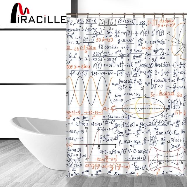 Miracille Grappige Chemische Wiskundige Formule Gedrukt Badkamer