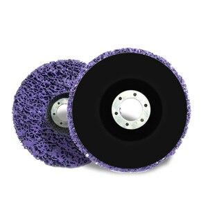 Image 3 - Полиполосный диск 125 мм, абразивные диски для удаления краски и ржавчины, чистящие шлифовальные круги для долговечной угловой шлифовальной машины, грузовик, мотоциклы