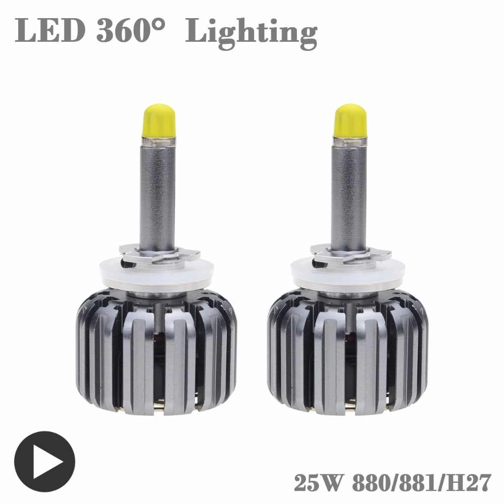 Auto Headlight H1 Led Lamp With CSP 6000K 35W 12 Volt 880 881 H27 Bulb Led Lampada Car Accessory Kit Led H1 360 Diode Head Light