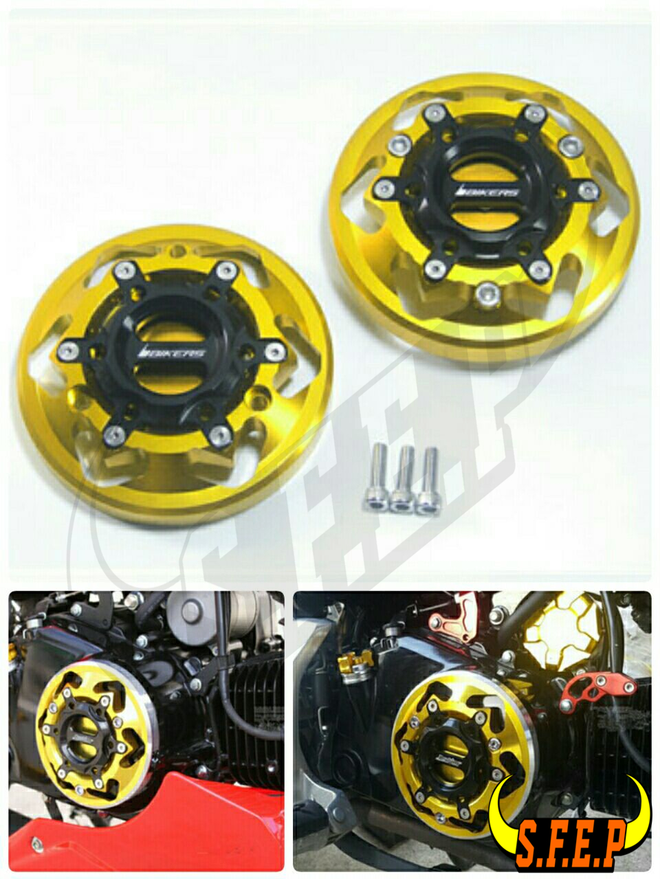 Motorcycle CNC Aluminum Engine Cover Protector Set For Honda GROM MSX125 MSX125SF
