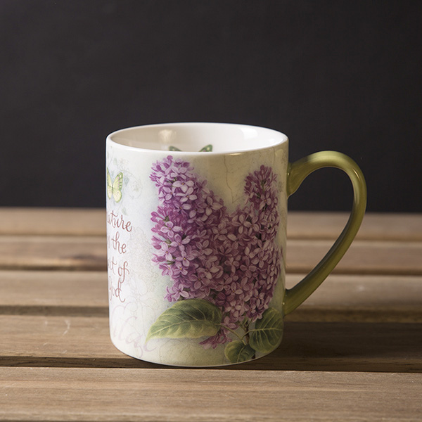 graphic regarding Printable Mugs Wholesale named US $16.44 5% : Obtain Superior Excellent Ceramic Handgrip Mugs Lilac Flower Revealed In just Lovely Stylish Espresso Mug H2o Cups Zakka