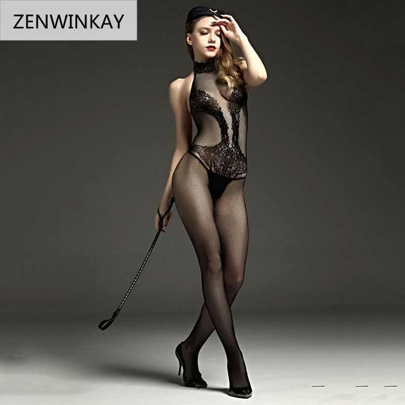 2018 Erotic Lingerie for Women Sex Underwear Porn Babydoll Dress Hot Lace Mesh Open Crotch Costume Nuisette Sexy Teddy Lingerie 3