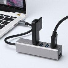 USB C Hub 4 порта USB 3,0 и type C порт SuperSpeed с поддержкой Micro USB функция горячей замены тонкий и легкий