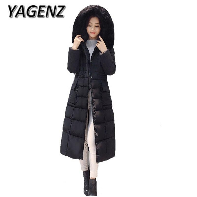 Black royal Manteau D'hiver Capuchon armygreen Blue Slim Down Coton À Yagenz2017 Corée Mode Épais Parka Chaud Femelle Veste Vêtements Femmes Long Manteaux red gX1nU