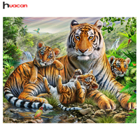 Free Shipping Diamond Painting Kit Panther Icon Full Square Drill Mosaic Embroidery Leopard Animal Diamond Cross