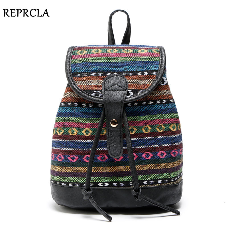 REPRCLA Hot Sale Women Ryggsäckar High Quality Canvas Ryggsäck Mode Girls School Bags Ryggsäck Designer High Quality