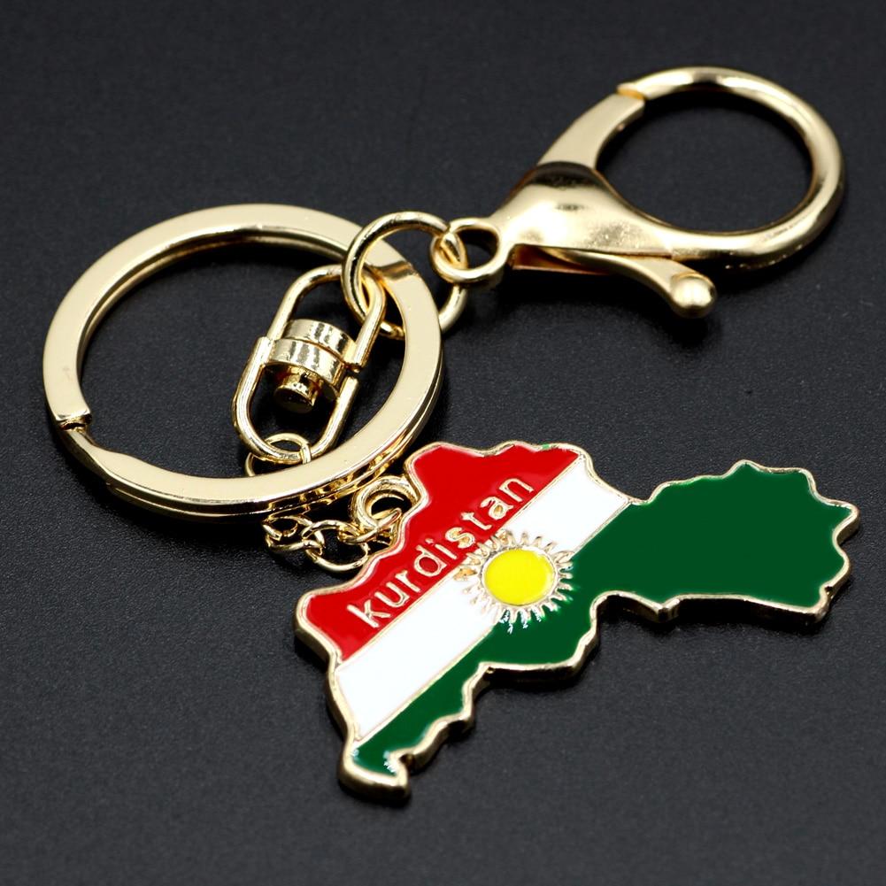 Kurdistan Karte 2019.Youe Glanzte Kurdistan Karte Flagge Keychain