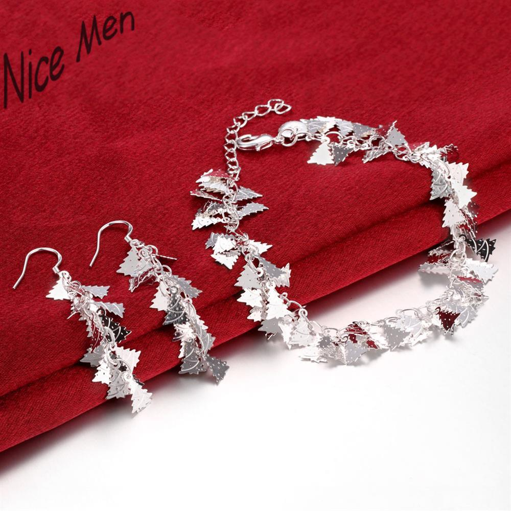 Christmas tree charms chorker necklace earrings sets S803 2015 bulk sale nice bridal party jewelry for seasongs holidays gift
