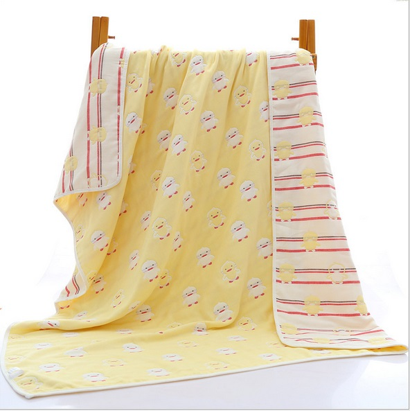 Dziecko grube 6 warstwy gazy muślin bawełna koc jakości noworodka - Pościel - Zdjęcie 6