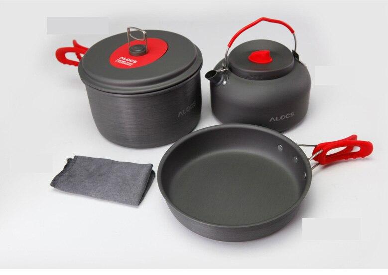 Alocs Portátil Ultraligero De Aluminio Antiadherente Paño de Cocina Pan Pot Kett