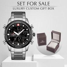 NAVIFORCE Mannen Horloges Sport Digitale Quartz heren Klok Met Box Set Voor Koop Mannelijke Militaire Waterdicht Horloge Relogio Masculino
