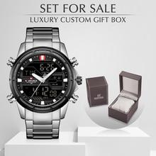 NAVIFORCE 男性腕時計スポーツクォーツデジタル男性の時計のボックスセットで販売男性軍事防水時計レロジオ Masculino