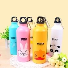 2017 Cute Sports Water Bottle Cartoon Style Aluminum Water Bottles School Travel Bicycle My Drink bottle for kids Outdoor