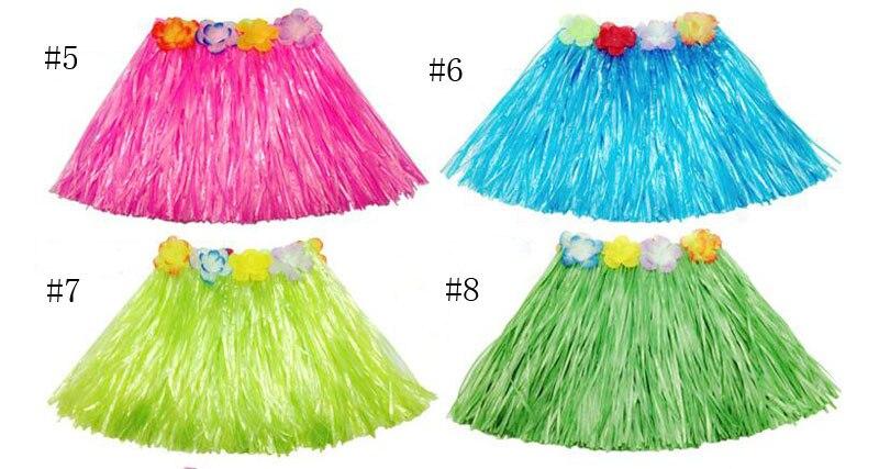 Дети Обувь для девочек Гавайский Юбка для танца хула Обувь для девочек  пляжная юбка для танцев с цветочным узором нарядные юбки EMS e58b216f548