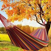 Al aire libre doble tela lienzo hamaca dormitorio camping Parque columpio multifuncional 2 Persona ocio colgante cama de dormir