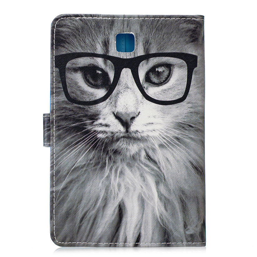 SM-P350 Case For Samsung Galaxy Tab A 8.0 Inch SM-T350 T355 Cover Smart Case Fashion Animal Funda Tablet PU Leather Stand Shell