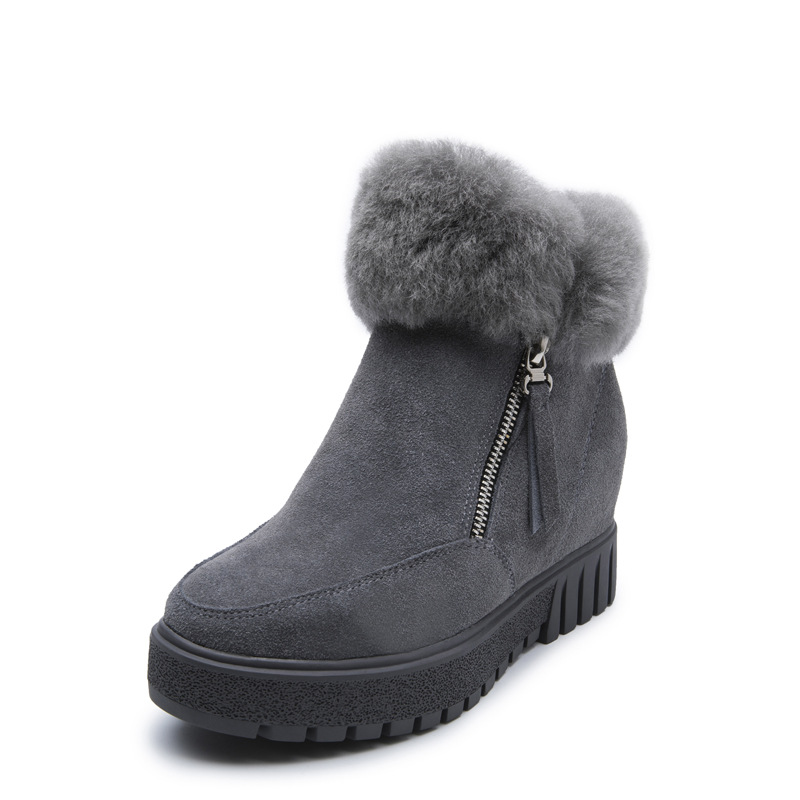 2017 winter new fur inside the new one of the snow boots ladies cashmere warm warm underwear boots wuhaobo the new arrival of the cashmere knitting wool ladies hat winter warm fashion cap silver flower diamond women caps