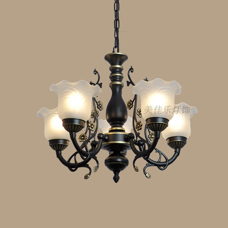 Simple European style Chandeliers led lamps Retro living room Six light source Chandelier  led lustre light Chandeliers high precision mould manufacturers plastic injection mold making
