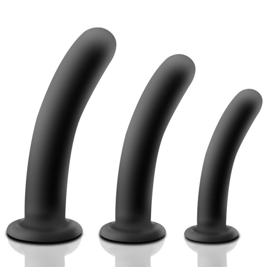 Smooth Anal Plug SuctionCup Silicone Vagina font b Dildo b font Adult Sex Toys for Woman