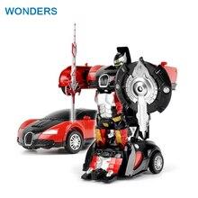 Dra tillbaka Coola leksaker Anime Action Figur Leksaker Transformation Robot Bil ABS Plast juguetes Modell Kollisionsdeformation bumblebed