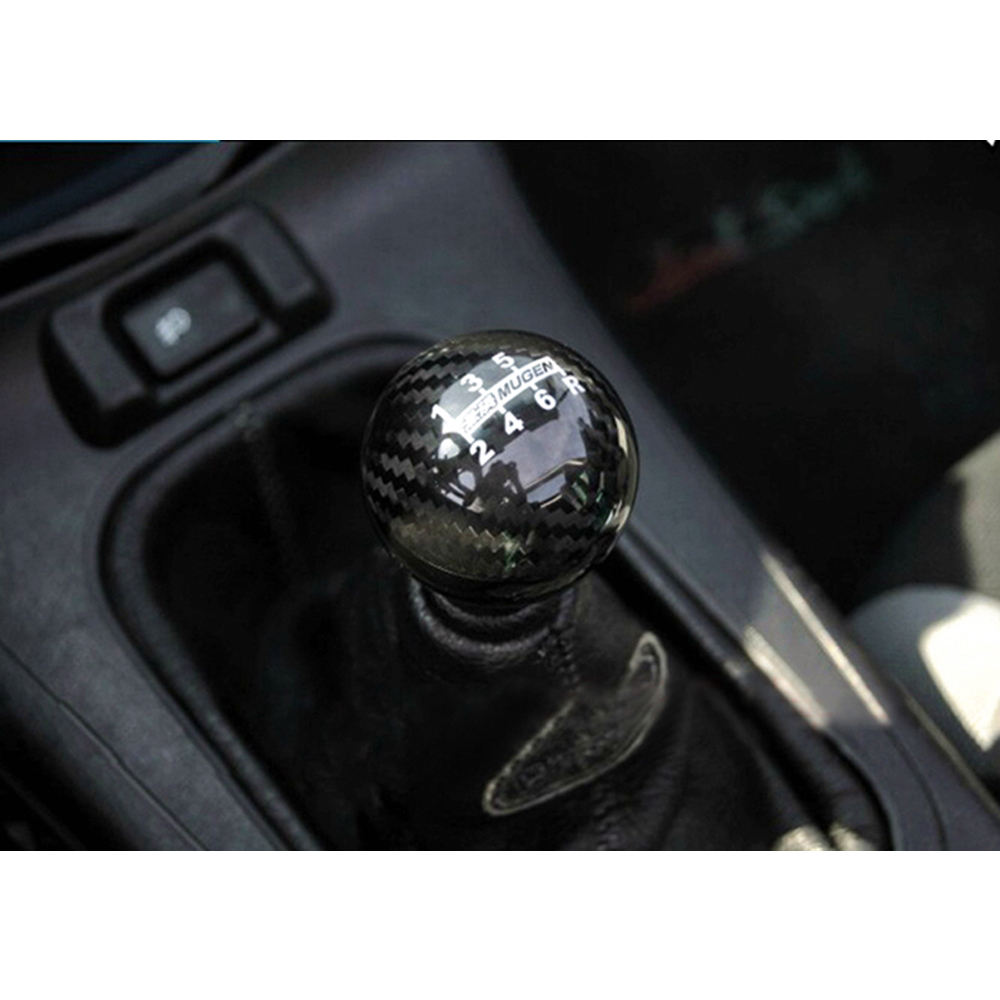 Image 4 - Universal Genuine Carbon Fiber Mugen Five / six Speed Manual / Automatic Spherical Gear Shift Knob For Honda Acura TOYOTA GSK06-in Gear Shift Knob from Automobiles & Motorcycles