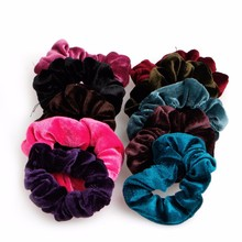 10pcs Velvet Hair Band Elastic Ponytail Tie Bow Rubber Bobbles for women girl