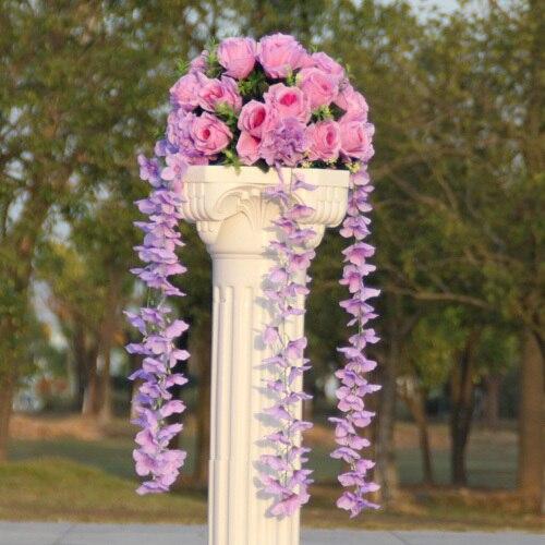 Свадебные композиция Диаметр Цветок свадебное оформление букета цветок для дорожного свинец римская колонна 4 шт./лот - Цвет: 2