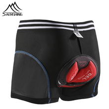 цена на SAENSHING 5D GEL Padded Cycling Shorts Men Bicycle Shorts Downhill MTB Short Pants Mountain Bike Underwear Breathable Tights