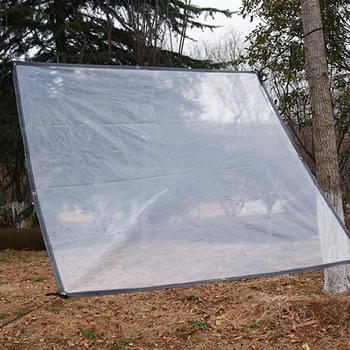 Plastikowa folia przeciwdeszczowa szklarnia roślina ogrodowa Bonsai sukulenty schronienie deszcz plandeka utrzymuj ciepło pyłoszczelna przezroczysta folia tanie i dobre opinie Z tworzywa sztucznego Tewango 0 12mm