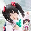 Anime Love Live! Love Live Yazawa Niko Nico 45CM Cosplay Wig Ponytails Black Hair Wigs Heat Resitance Fiber Free Shipping