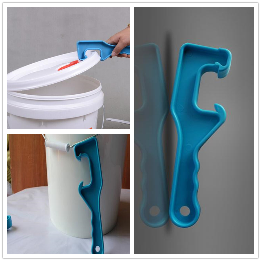 New Arrival ABS Plastic Gallon Bucket Pail Paint Barrel Lid Can Opener Opening Tool For Home Office Color Random CANDYKEE