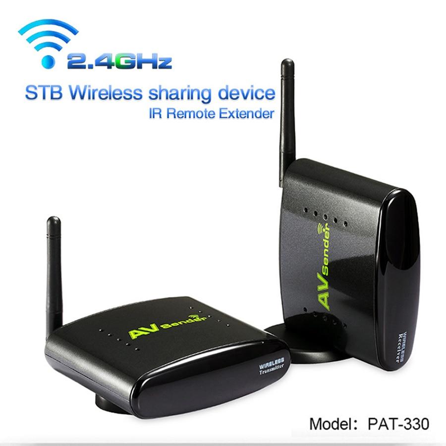 PAT-330 150M Wireless AV Extended Digital RCA Audio Video Transmitter Receiver Sender for CCTV DVD Satellite Android Cable TV