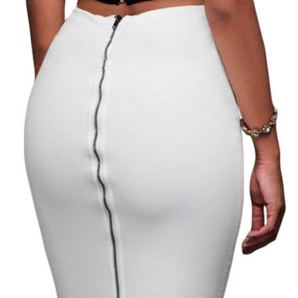 Summer White Tight Skirt Pencil Skirts Womens Korean Micro Skirt ...