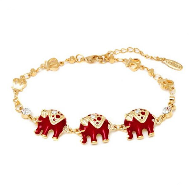 4 colour  Bohemian silver  Color Elephant  Charms Bracelet
