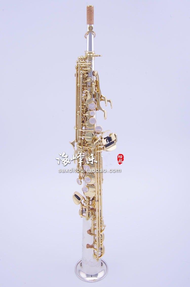 Japon YANAGISAWA S9930 B (B) Soprano Saxophone Instruments de musique haute qualité saxo laiton argenté avec étui professionnel