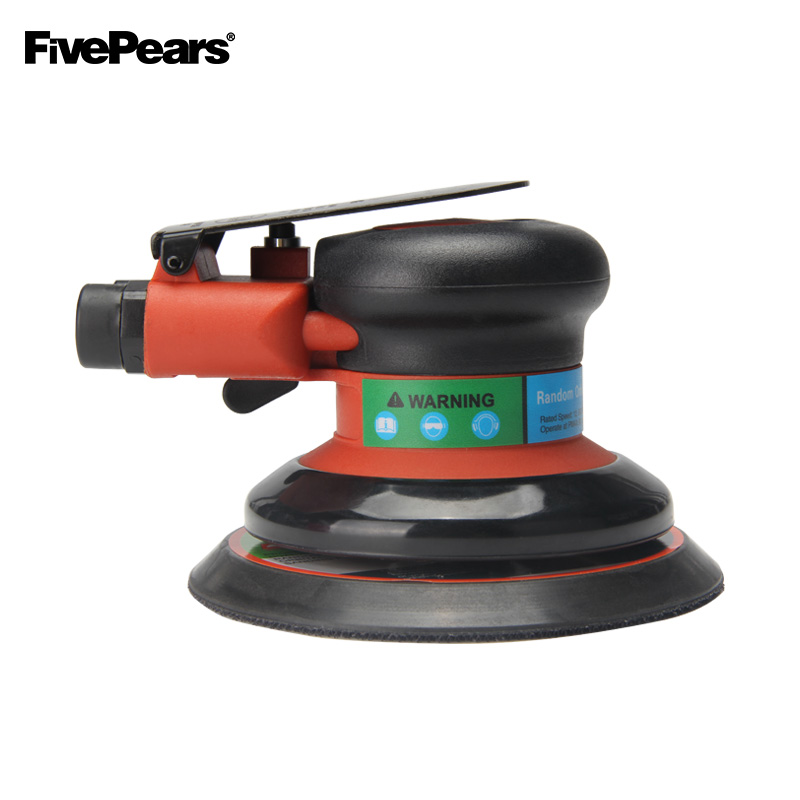 FIVEPEARAS Polisher Air Random Orbital Palm Sander For 5inch 125mm Pad Pneumatic Power Tool Free Shipping.