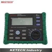 Digital Earth Ground Resistance Voltage Tester Meter Megger 0ohm to 4K ohm 100 Groups Data Logging with Backlit MASTECH MS2302