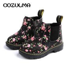 COZULMA Kids kostki buty dziewczęta chłopcy kwiat kwiatowy Drukuj buty Chelsea dziewczęta jesień Martin buty dzieci zimowe buty rozmiar 21-36 tanie tanio 7-9Y 13-18M 2-3Y 4-6M 7-9M 19-24M 13-14Y 14Y 10-12M 4-6Y 10-12Y Low-heeled Gumowe Modne buty Tkanina bawełniana