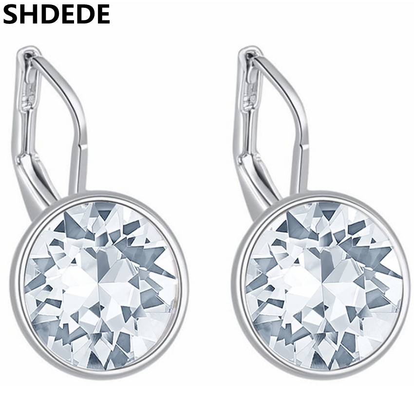 fd9cfba2b SHDEDE Fashion Jewelry Crystal from Swarovski Dangle Drop Earrings For Women  Classic Accessories Bride Party Gifts