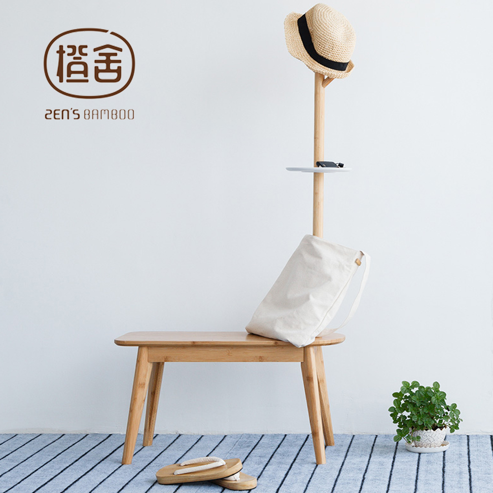 Clothes Rack Creative Simple Hall Tree with Stool Hat Rack Stand Bedroom Furniture for Child Home Furniture inness sturdy coat rack solid rubber wood hall tree with tripod base suitable for aduit bule