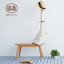 Clothes Rack Creative Simple Hall Tree with Stool Hat Rack Stand Bedroom Furniture for Child Home