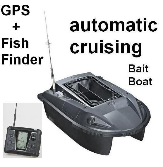 Newest rc fishing bait boat automatic cruising gps sonar for Gps trolling motor for sale