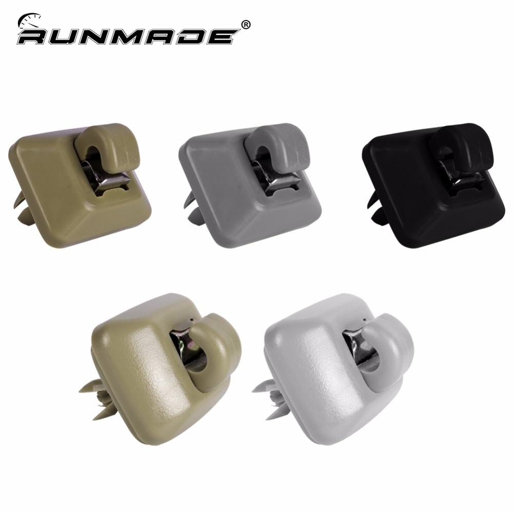 Runmade Interior Sun Visor Hook Bracket Cap For Audi A1 A3 A4 A5 Q3 Q5 8E0857562A 8E0857562 8U0857562 Black Beige Gray