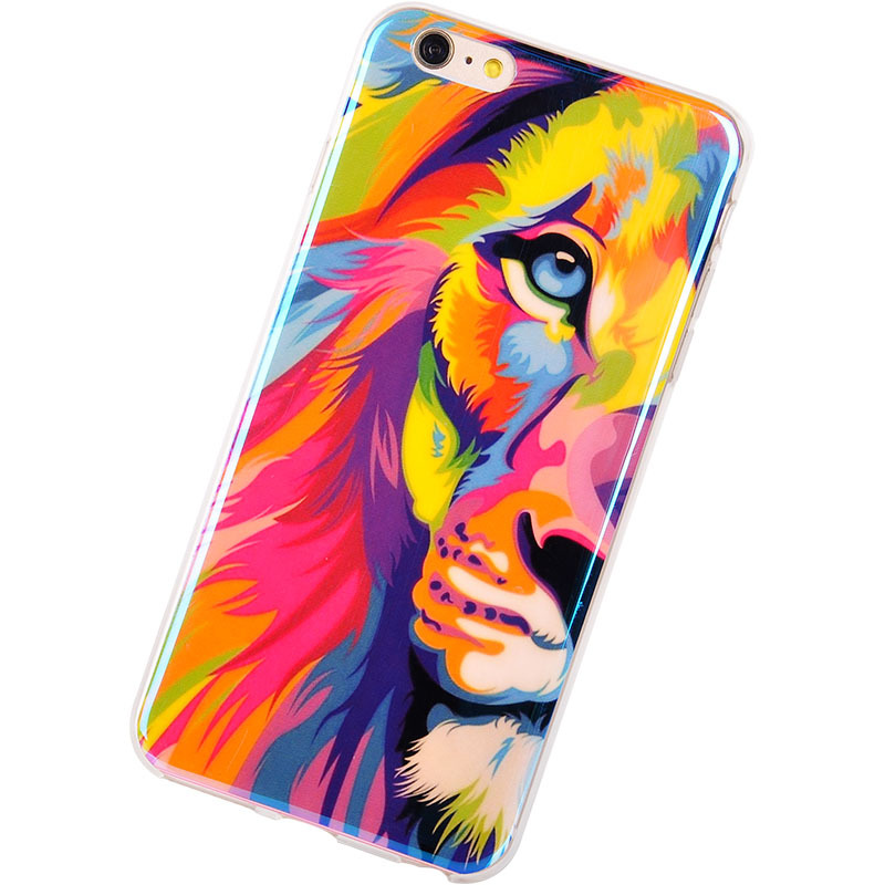 TPU Cases for iPhone 6 New <font><b>Arrival</b></font> For Apple iPhone 6 Plus Case IMD Lions Tigers <font><b>Blu-ray</b></font> Silicon Design 5.5inch Phone capa Cover