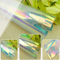 Rainbow Effect Decorative Window Film For Home Restaurant Color Changing 54''x12''(137cm x 30cm)