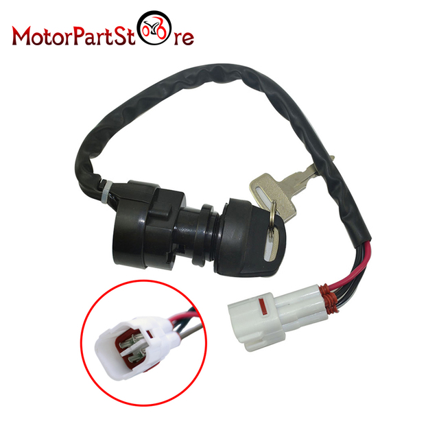 4 wires terminals ignition key switch for yamaha breeze 125 yfa125 1989  1991-1994 atv quad dirt pit bike accessory d10