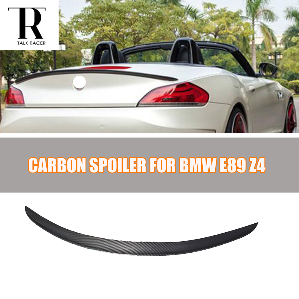 E89 Z4 D Style Carbon Fiber Rear Spoiler for BMW E89 Z4 2009 - 2014 Auto Racing Car Styling Tail Trunk Lid Lip Wing carbon fiber nism style hood lip bonnet lip attachement valance accessories parts for nissan skyline r32 gtr gts